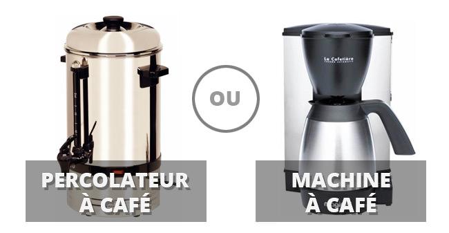 les différences entre un percolateur et une machine à café